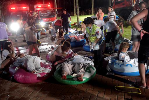 The injured were stretchered out on inflatable boats