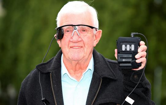 Pensioner Raymond Flynn with the equipment