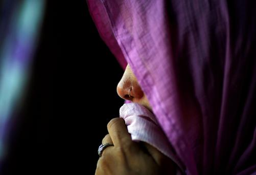 The mother of Meenakshi Kumari, one of the sisters allegedly threatened with rape
