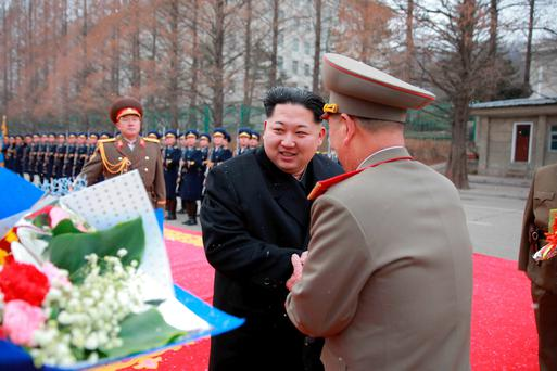 North Korean leader Kim Jong-un is pictured visiting the Ministry of the People's Armed Forces. Photo: Reuters