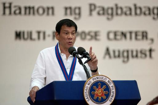 President of the Philippines Rodrigo Duterte: outspoken. Photo: Reuters