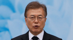 South Korea's Moon Jae-in. Photo: Reuters