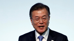 South Korean president Moon Jae-in hopes the US and North Korea will hold talks. Photo: Reuters