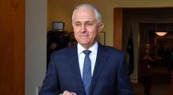 Mr Turnbull was challenged by Home Affairs Minister Peter Dutton after he declared the leadership of the government vacant yesterday. Photo: AP