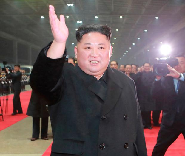 Above it all: Kim Jong-un