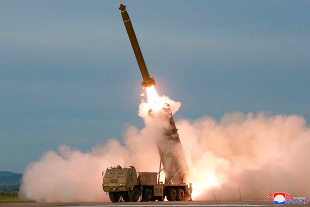 The missile launch. Photo: AP