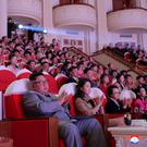 Happy family: Kim Jong-un sits besides wife Ri Sol-ju and aunt Kim Kyong-hui (far right) as they watch a performance at the Samjiyon Theatre in Pyongyang. Photo: Reuters