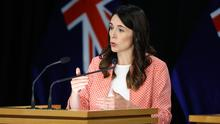 Prime Minister Jacinda Ardern speaks to media during a press conference at Parliament. Photo: Hagen Hopkins/Getty Images