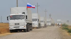 Russian trucks have entered Ukraine, according to reports. (AP)