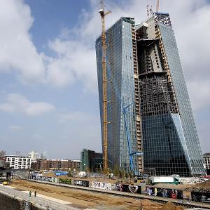 The new headquarters of the European Central Bank under construction in Frankfurt (AP)
