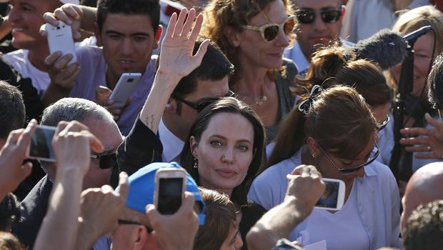 Angelina Jolie is visiting Syrian refugees in Turkey (AP)