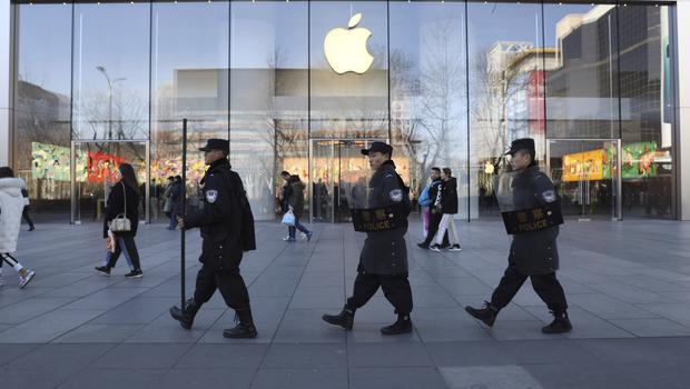 The Apple store in Beijing is one of 42 in China (Ng Han Guan/AP)
