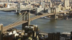 The tourist was charged with reckless endangerment and criminal trespass after climbing the Brooklyn Bridge