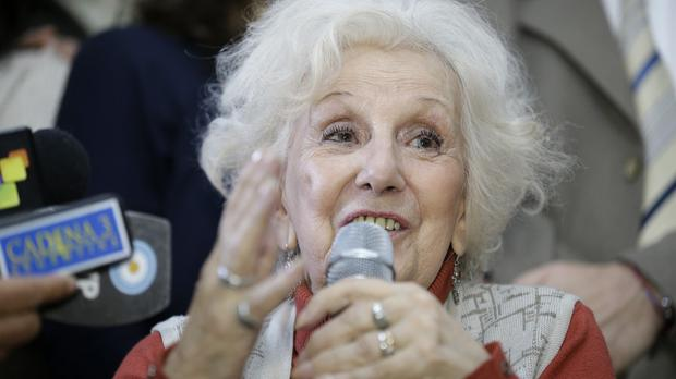 Estela de Carlotto, president of Grandmothers of Plaza de Mayo, at a news conference in Buenos Aires (AP)