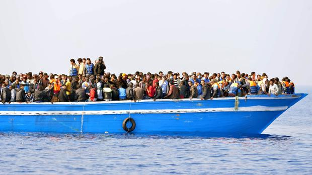 More than 1,000 migrants have been rescued from the Med over the weekend