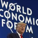 President Donald Trump delivers the opening remarks at the World Economic Forum (Evan Vucci/AP)