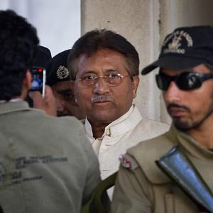 Pakistan's former president and military ruler Pervez Musharraf has fled after his bail conditions were revoked (AP)