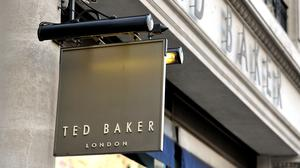A shop sign for Ted Baker in central London (Nick Ansell/PA)