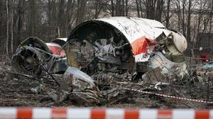 The wreckage of the Polish presidential plane which crashed in western Russia in 2010, killing President Lech Kaczynski and 95 others. Photo: AP