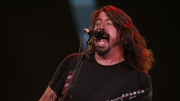 "Dave Grohl told the crowd ""I think I really broke my leg"" before he was taken away for medical attention"