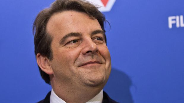 Francois Fillon's spokesman Thierry Solere, pictured, has resigned (AP)