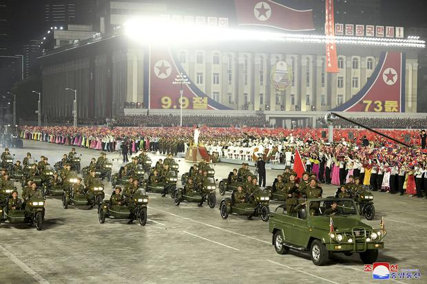 Pyongyang also showed off its military power in a parade last week (Korean Central News Agency/Korea News Service/AP)