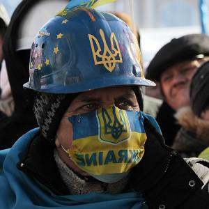 Opposition supporters at a rally in Independence Square, Kiev (AP)