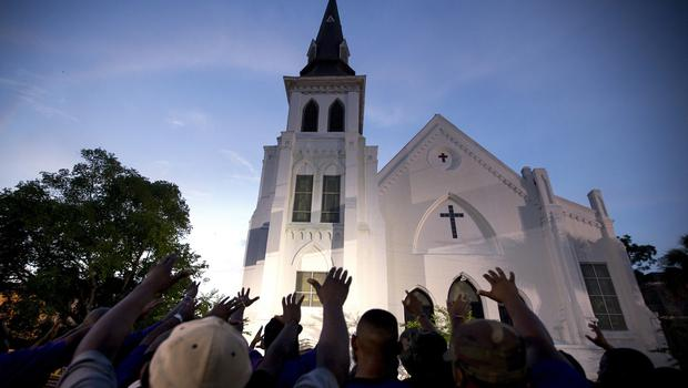 Nine people were shot to death at the church on Wednesday (AP)