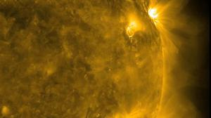 Scientists said two blasts of magnetic plasma left the sun on Sunday, combined and reached Earth much earlier and stronger than expected. (PA/Nasa)