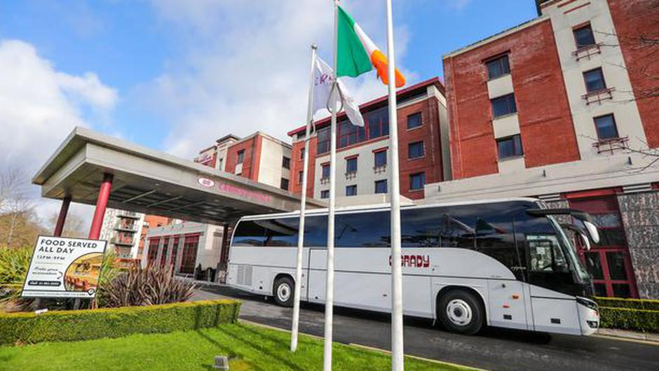 The Crowne Plaza Hotel, Northwood, Santry which is being used as a quarantine hotel for those arriving into Ireland .