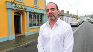 'We need clarity': Owner Ollie Grimes outside his pub Ollie's Place in Skerries, Co Dublin. Photo: Gerry Mooney