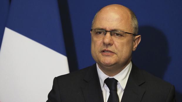 Bruno Le Roux gives a press conference after resigning amid investigations into parliamentary jobs he gave his daughters (AP)