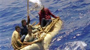 Cuban refugees 60 miles south of Key West, Florida (AP)