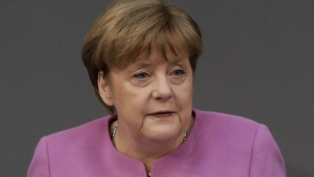 German Chancellor Angela Merkel said she will 'not allow the victims of the Nazis to be trivialised' (Markus Schreiber/AP)