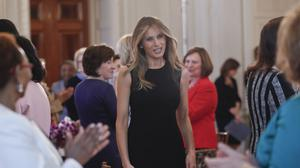 First lady Melania Trump at the White House, where she hosted an event to mark International Women's Day (AP/Pablo Martinez Monsivais)