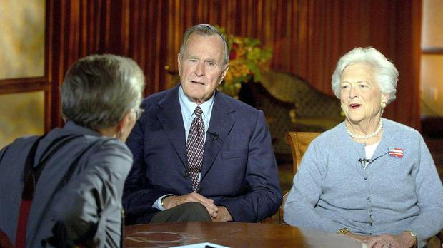 Former President and First Lady George and Barbara Bush (CNN/PA)