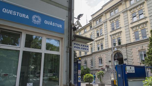 The Italian police station where Argentine businessman Alejandro Burzaco turned himself in. (AP)