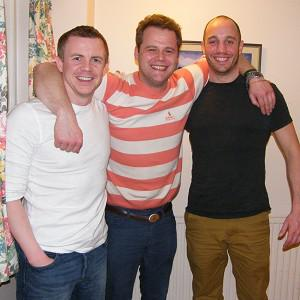 Philip Goodeve-Docker, left, with expedition team-mates Roan Hackney and Andy Norman