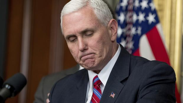 Mike Pence frequently criticised Hillary Clinton's use of a private email server as secretary of state (AP)