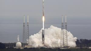 Nasa's Maven Maven, atop a United Launch Alliance Atlas 5 rocket, lifts off from Cape Canaveral (AP)