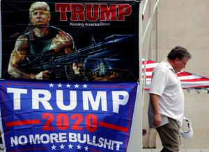 A pro-Trump poster on the street