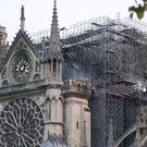 The Notre Dame Cathedral in Paris following the fire (Gareth Fuller/PA)