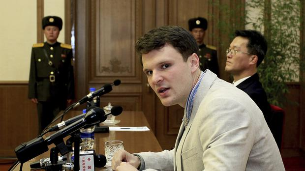 Otto Warmbier was released by North Korea (AP)