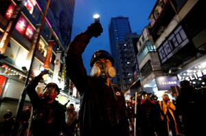 Demo: Pro-democracy protests were a regular event in Hong Kong last year. Photo: Willy Kurniawan/Reuters