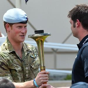 Prince Harry prepares to light the cauldron to mark the opening of the Warrior Games in Colorado Springs