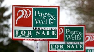 The average house price fell by 0.6% in April, according to an index from Halifax (PA)