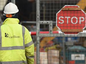A Carillion worker at a construction site (Joe Giddens/PA)