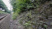 The potencial site where a Nazi gold train is believed to be hidden, near the city of Walbrzych in Poland. (AP)