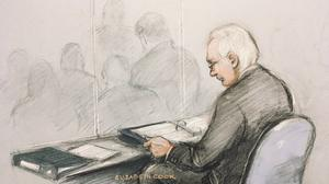 WikiLeaks founder Julian Assange in court for his extradition hearing (Elizabeth Cook/PA)