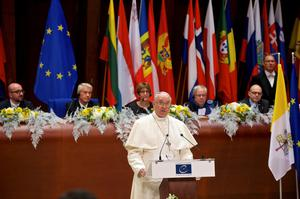 Pope Francis addresses the Council of Europe in Strasbourg